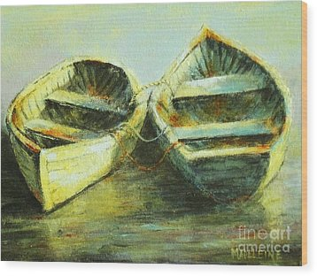 Two In A Row Wood Print by Madeleine Holzberg