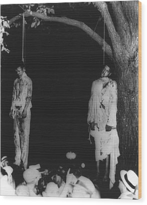 Two Lynched African American Men Wood Print by Everett