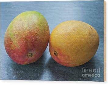 Two Mangos Wood Print by Elena Elisseeva