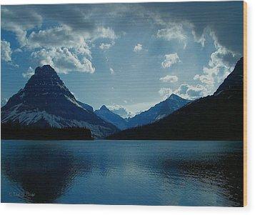 Two Medicine Lake Wood Print