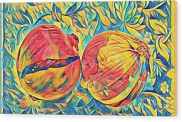 Two Onions Wood Print