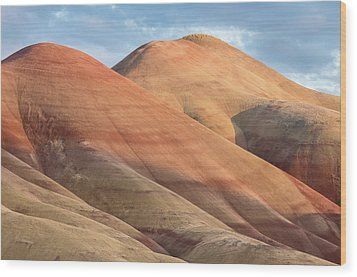 Wood Print featuring the photograph Two Painted Hills by Greg Nyquist