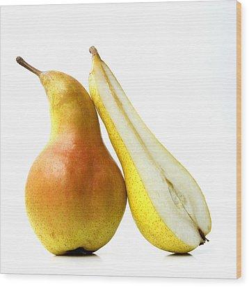 Two Pears Wood Print by Bernard Jaubert
