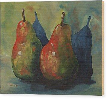 Two Pears  Wood Print by Torrie Smiley