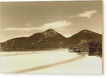Two Rivers Beach Wood Print