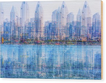 Two Skylines Wood Print