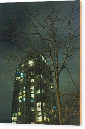 Two Skyscrapers Wood Print by Barbara  White