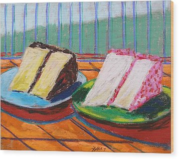 Two Slices Wood Print by John Williams