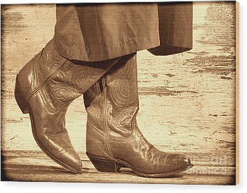 Two Step Wood Print by American West Legend By Olivier Le Queinec