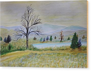 Two Tracking Wood Print by Dick Bourgault