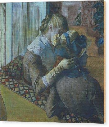 Two Women Wood Print by Edgar Degas
