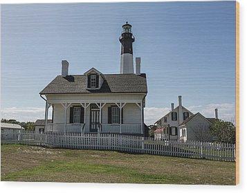 Wood Print featuring the photograph Tybee Island Lighthouse by Kim Hojnacki