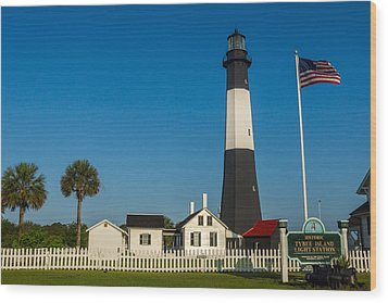 Tybee Island Lighthouse Wood Print by Michael Sussman