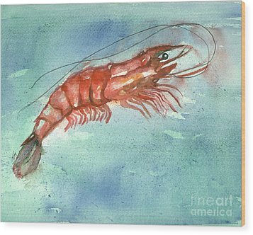 Tybee Wild Shrimp Wood Print by Doris Blessington