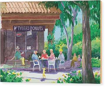 Tylers Donuts Wood Print by Ray Cole
