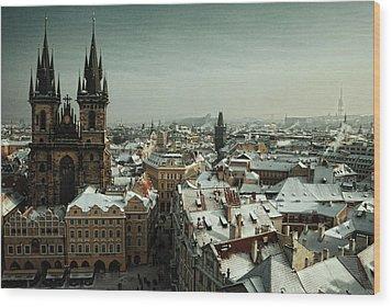 Tyn Church, Prague Wood Print by Erik T Witsoe