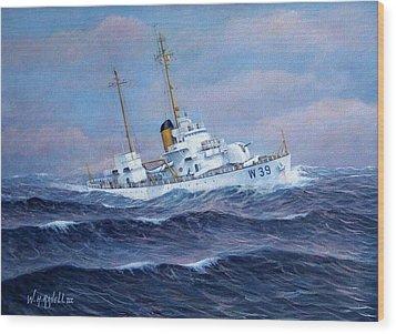 U. S. Coast Guard Cutter Owasco Wood Print by William H RaVell III