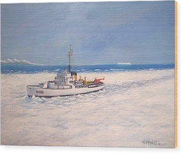 U. S. Coast Guard Icebreaker Northwind Wood Print by William H RaVell III