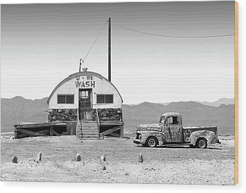 Wood Print featuring the photograph U - We Wash - Death Valley by Mike McGlothlen