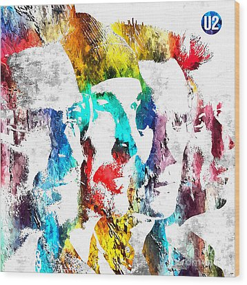 U2 Grunge Wood Print