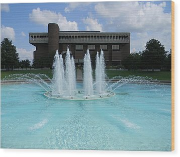 Ucf Reflection Pond Wood Print