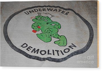 Udt Frogman Flag Wood Print