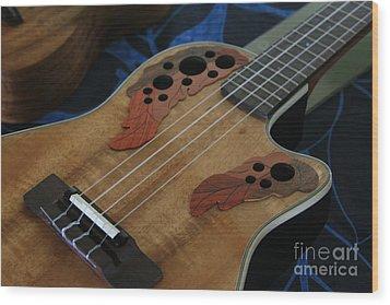 Ukulele Wood Print by Sharon Mau