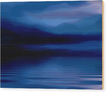 Ullswater At Dusk Wood Print