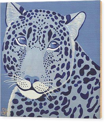 Ultramarine Jaguar Wood Print