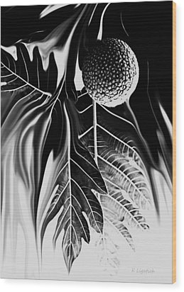Ulu - Breadfruit Abstract Wood Print by Kerri Ligatich
