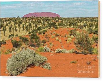 Wood Print featuring the photograph Uluru 01 by Werner Padarin