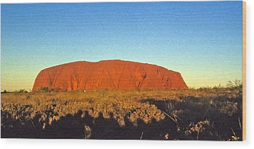 Wood Print featuring the photograph Uluru by Gary Wonning