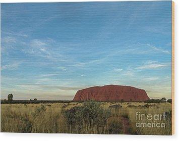 Wood Print featuring the photograph Uluru Sunset 02 by Werner Padarin