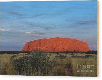 Wood Print featuring the photograph Uluru Sunset 03 by Werner Padarin