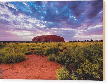 Wood Print featuring the photograph Uluru by Ulrich Schade