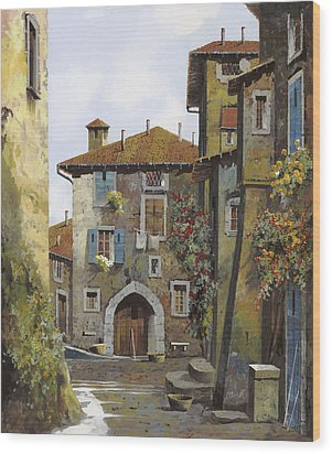 Umbria Wood Print by Guido Borelli