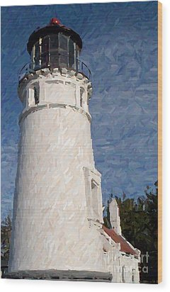Wood Print featuring the photograph Umpqua Lighthouse by Carol Grimes