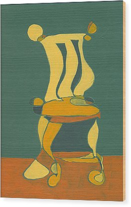 Un-sittable Small Wood Print by John Gibbs