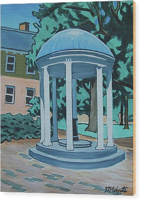 Unc Old Well Wood Print