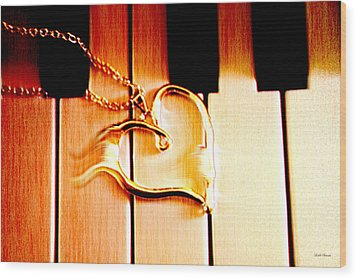 Unchained Melody Wood Print by Linda Sannuti