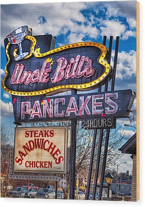 Uncle Bill's Pancakes Wood Print by Robert  FERD Frank