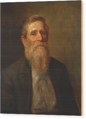 Uncle Isaac James Ross Wood Print by Lewis A Ramsey