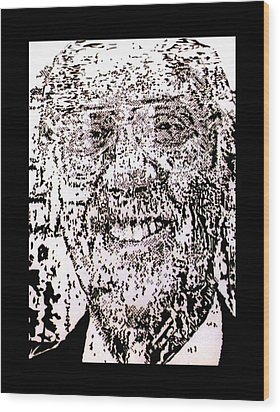 Uncle Walter Wood Print by Gabe Art Inc