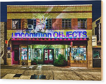 Wood Print featuring the photograph Uncommon Objects At Night by John Maffei