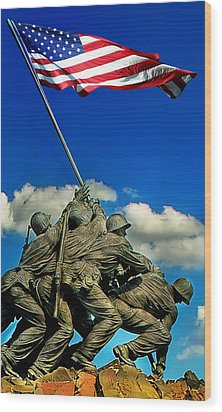 Uncommon Valor Wood Print