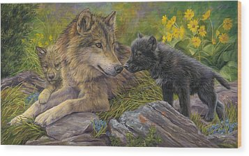 Unconditional Love Wood Print by Lucie Bilodeau