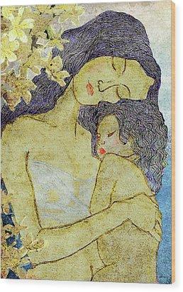 Unconditional Love Wood Print by Shakila Malavige