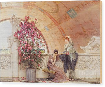 Unconscious Rivals Wood Print by Sir Lawrence Alma Tadema
