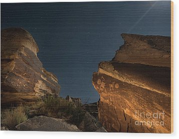 Wood Print featuring the photograph Uncounted Years Under The Moonlight by Melany Sarafis