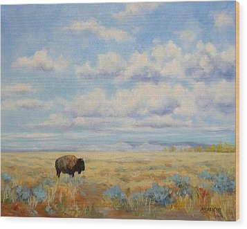 Under A Big Sky Wood Print by Debra Mickelson